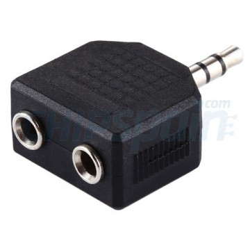 Adaptador Jack Doble 3.5mm Macho / 2 Hembra