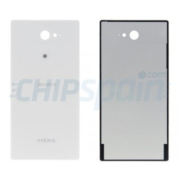 Glass Back Cover Sony Xperia M2 White