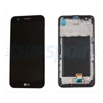 LCD Screen + Touch Screen Digitizer Assembly LG K10 2017 With Frame X400 M250N Black