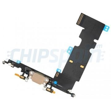 Cable Flex Conector Carga Audio y Micrófono iPhone 8 Plus Oro