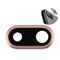Lente da Câmera Traseira iPhone 8 Plus Ouro Rosado