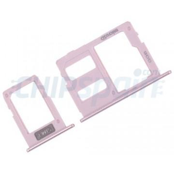 Tabuleiro para cartão SIM e Micro SD Samsung Galaxy J3 J5 J7 2017 Rosa