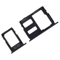 Tabuleiro para cartão SIM e Micro SD Samsung Galaxy J3 J5 J7 2017 Preto