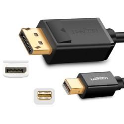 Adaptador Mini DisplayPort Thunderbolt a DisplayPort 1.5m Negro