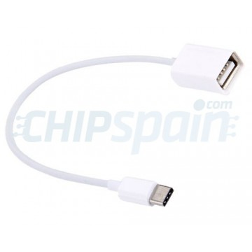 USB-C / Type-C 3.1 OTG Adapter Cable 20cm White