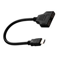 Adaptador Cable Divisor HDMI Macho Hembra Doble Negro