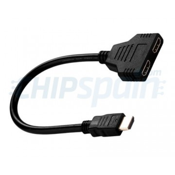 Adapter Cable Splitter HDMI Male Female Dual Black