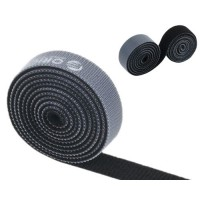 Cinta Sujetacables Divisible Velcro 1m Negro