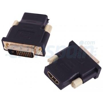 Fêmea do Adaptador de HDMI ao Macho de DVI Preto