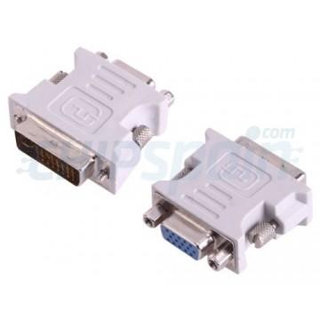 DVI-I Male to VGA Female Adapter Grey