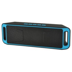 Altavoz Portatil Bluetooth Móvil PC Azul