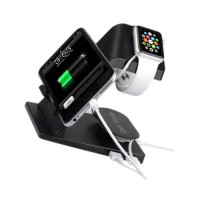 Soporte de Carga para Apple Watch - iPhone - iPad - Negro
