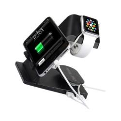 Soporte de Carga para Apple Watch - iPhone - iPad - Negro