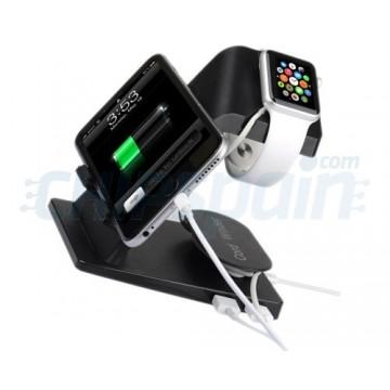 Suporte de carga Apple Watch - iPhone - iPad - Preto