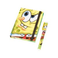 Bob Esponja: Pack de cuaderno de notas y bolígrafo Bob Esponja
