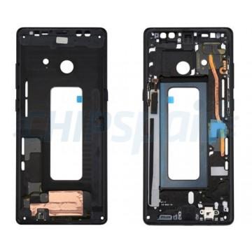 Tela Moldura Frontal Samsung Galaxy Note 8 N950 Azul