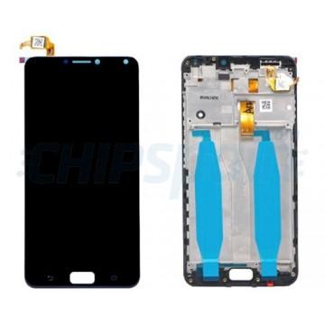 Pantalla Asus Zenfone 4 Max ZC554KL con Marco Completa Negro