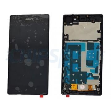 Tela Cheia com Moldura Sony Xperia Z1 -Preto
