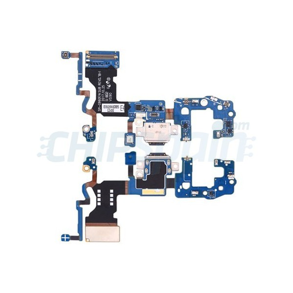 Charging Port and Microphone Ribbon Flex Cable Samsung Galaxy S9 G960F