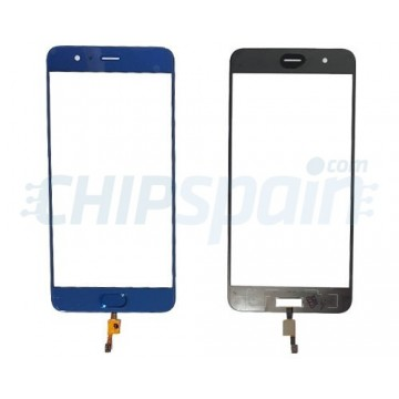 Front Screen Outer Glass Xiaomi Mi Note 3 with Home Button Blue