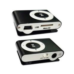 Reproductor MP3 USB Tarjeta Micro SD con Pinza de Sujecion Negro