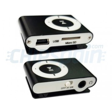 MP3 player USB Micro SD card with Fastening Clip Black