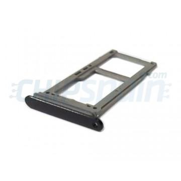 Tabuleiro para cartão SIM e Micro SD Samsung Galaxy S9 / S9 Plus Preto