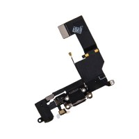 Cable Flex Conector Carga Audio y Micrófono iPhone SE Negro