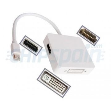 Adaptador Mini DisplayPort para DVI / HDMI / DP