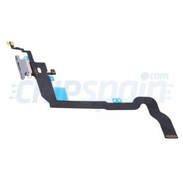 Cable Flex Conector Carga y Micrófono iPhone X Blanco