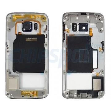Carcaça Central Intermediária Samsung Galaxy S6 Edge (G925F) Azul