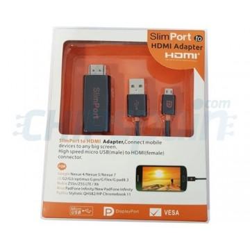 Adaptador SlimPort a HDMI Nexus/LG/Asus/Nubia/Fujitsu