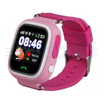Reloj Smartwatch GPS con Localizador para Niños Rosa