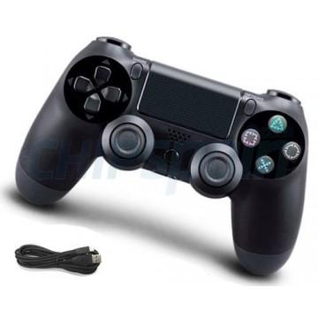 Mando PS4 Inalámbrico con Cable USB Compatible Negro