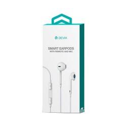 Auriculares Earpods con Mando y Micrófono Devia Premium Blanco
