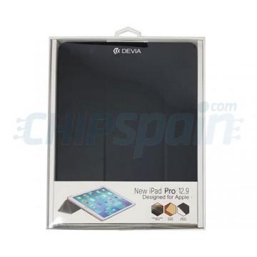"""Capa de Couro iPad Pro 12.9"""" 2018 Devia Premium Preto"""