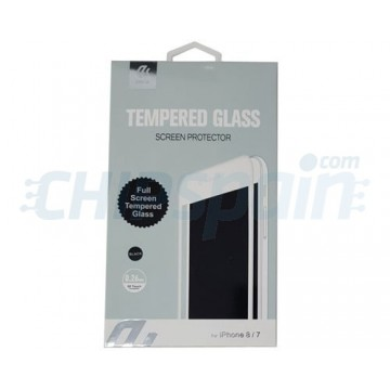 Protector Pantalla Cristal Templado iPhone 7 iPhone 8 Negro Devia Premium