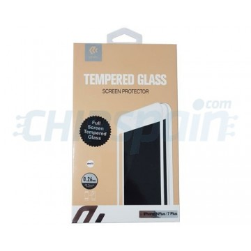 Protector Pantalla Cristal Templado iPhone 7 Plus iPhone 8 Plus Blanco Devia Premium