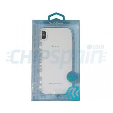Funda iPhone Xs Max Silicona Transparente Devia Premium