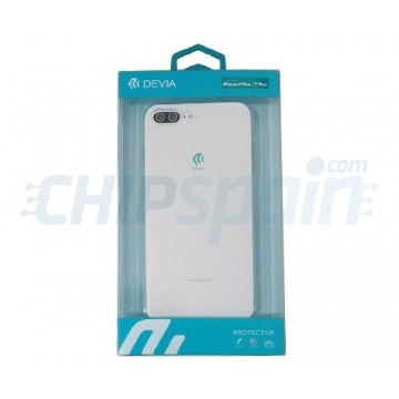 Capa iPhone 8 Plus iPhone 7 Plus Silicone ultra fino Transparente