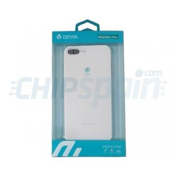 Cover iPhone 8 Plus iPhone 7 Plus Ultra-fine silicone Transparent Devia Premium