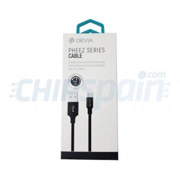 Cabo Carregamento e Dados USB para microUSB 1m Devia Premium Preto