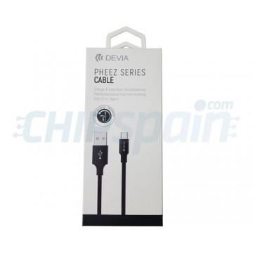 Cabo Carregamento e Dados USB para USB Tipo C 1m Devia Premium Preto