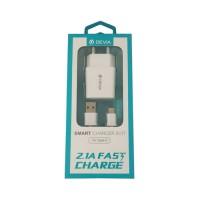 Adaptador Corriente a USB Tipo C 2.1A Devia Premium Blanco