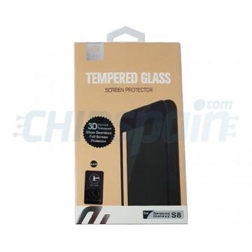 Screen Protector Tempered Glass Samsung Galaxy S8 Black Devia Premium