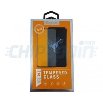 723f28e7b88 Protector Pantalla Cristal Templado iPhone X / iPhone XS Negro Devia Premium