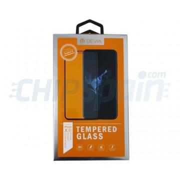 Protector Pantalla Cristal Templado iPhone XR Negro Devia Premium