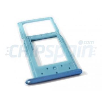 Tabuleiro para cartão Dual SIM e Micro SD Huawei P Smart 2019 POT-LX1 / Honor 10 Lite Azul