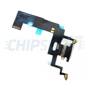 Flex Conector Carga Lightning y Micrófono iPhone XR A2105 Negro
