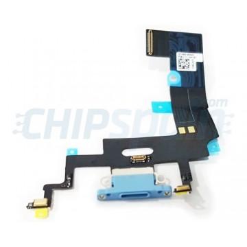 Cabo flex Carregamento Lightning e Microfone iPhone XR A2105 Azul